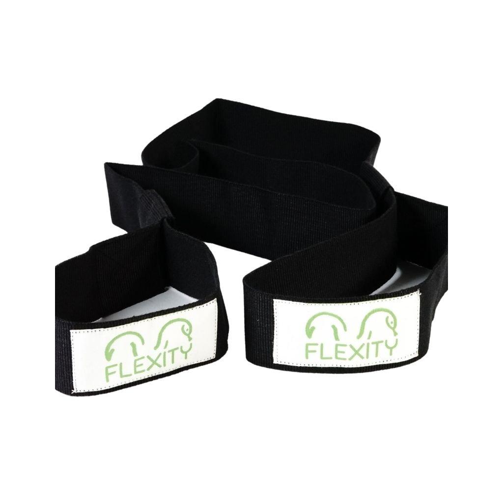Flexity ľahký popruh na nosenie podložky na jogu s bielym logom 155 cm