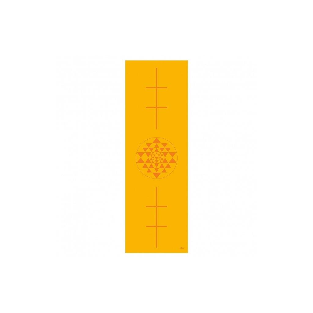 896ys yoga leela yogamatte print yantra saffron