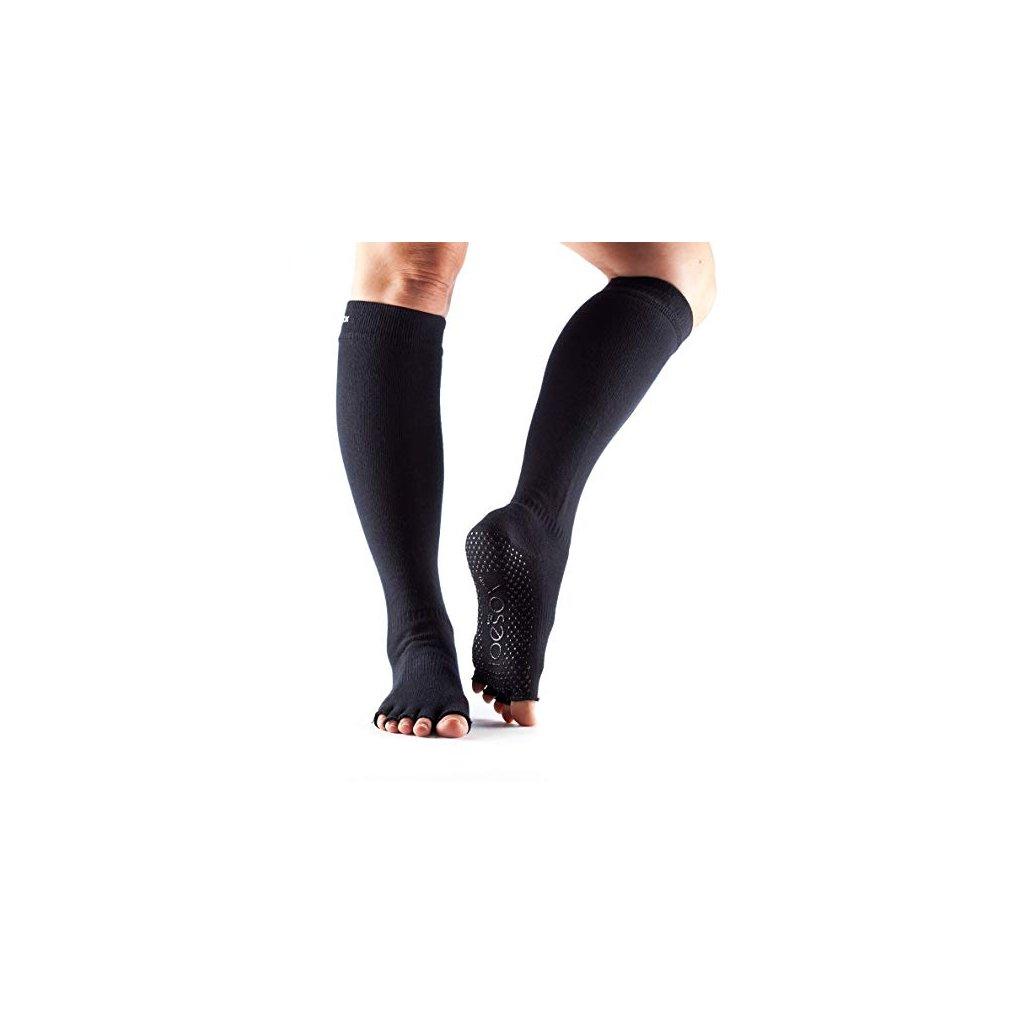 black ponozky podkolienky