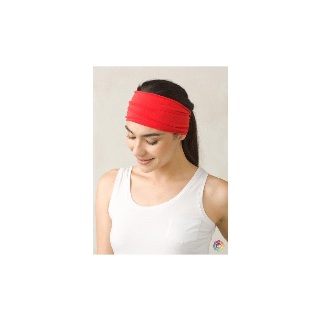 69bbeade3313a PRANA čelenka na jogu z organickej bavlny červená   Flexity JOGA ...