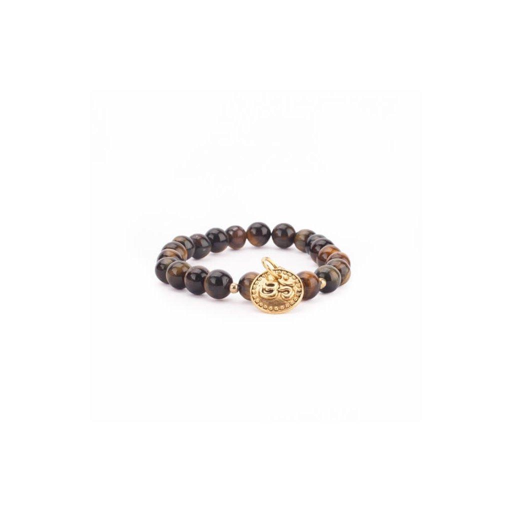 401TA yoga mala armband mit tigerauge mit om anhaenger