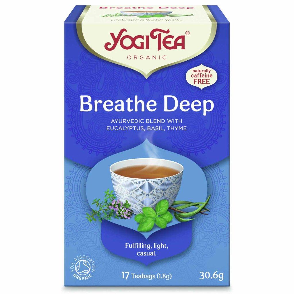 Yogi Tea Breathe Deep (prieduškový) – Ajurvédsky bylinný čaj porciovaný BIO 17 × 1,8 g