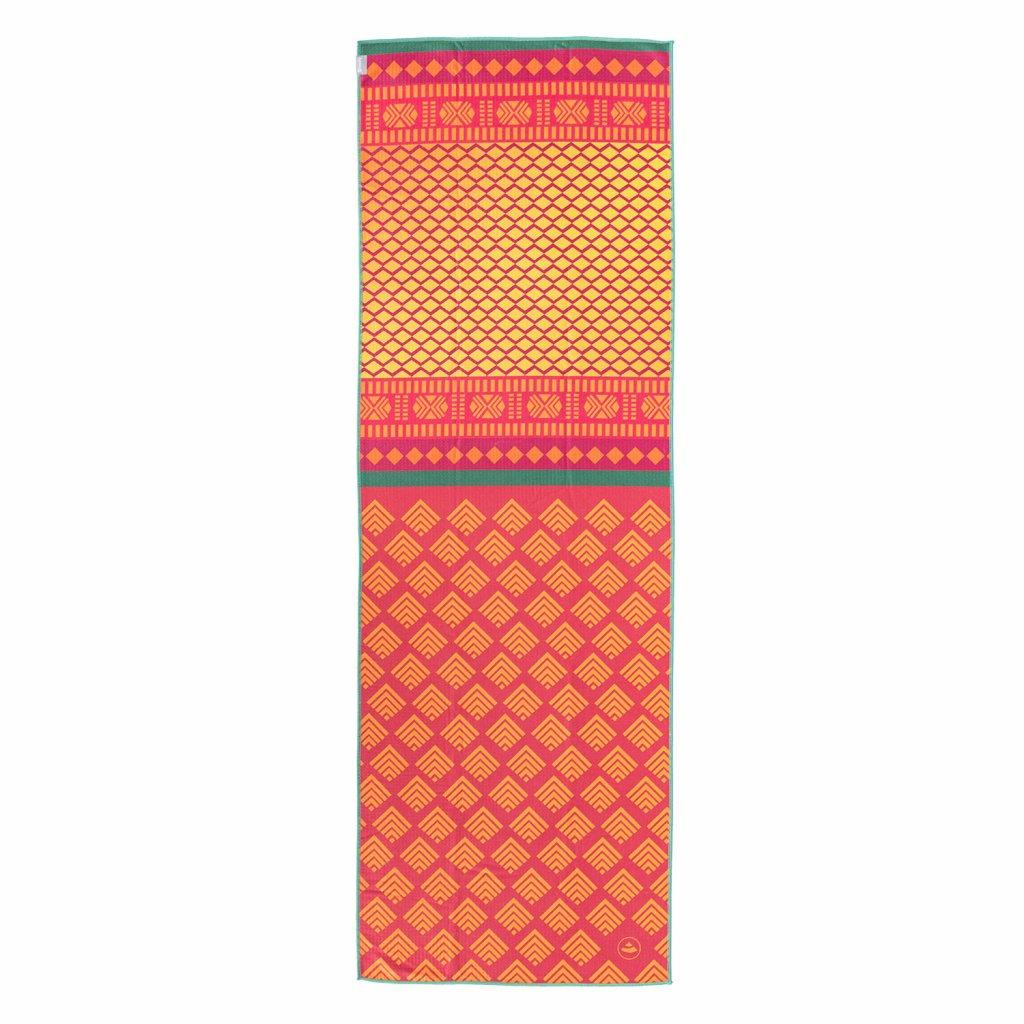 907ass yoga yogatuch grip towel art collection safari sari rot gelb