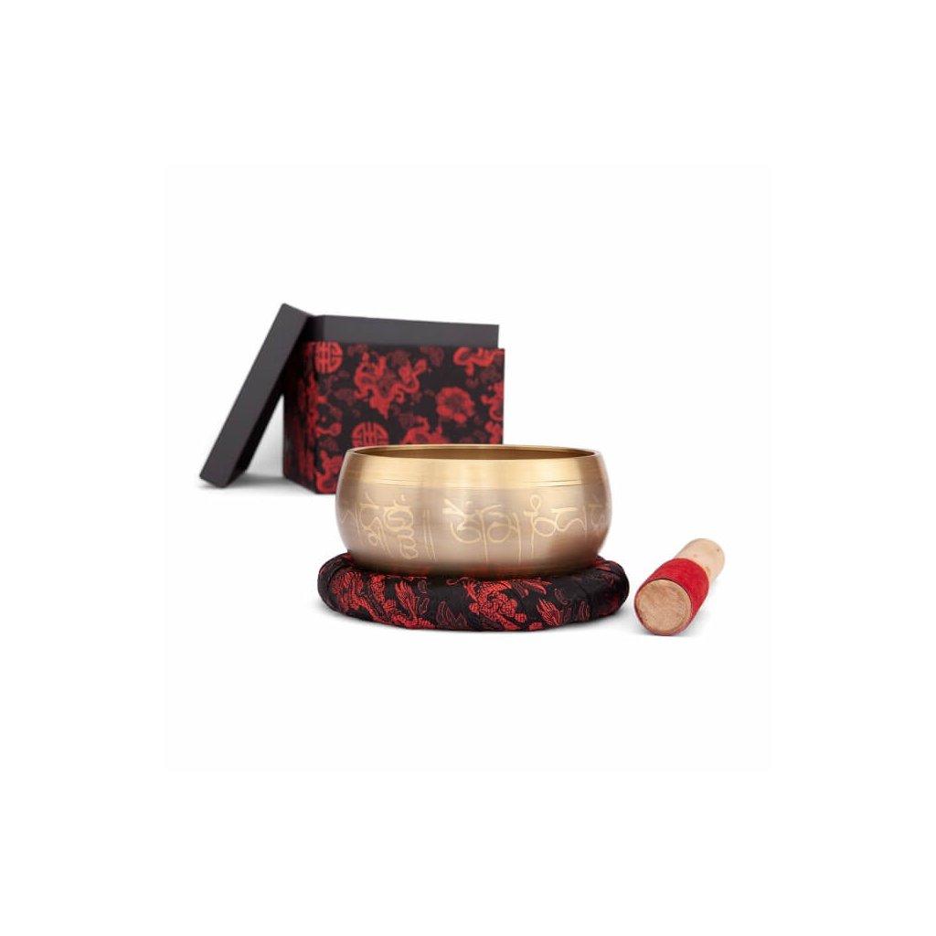 ks14b meditation verzierte klangschale ca 14cm mit tara dekor