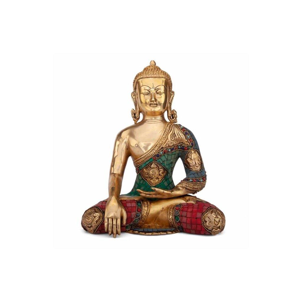 bud30 mediation zubehoer buddha statue mehrfarbig frontal