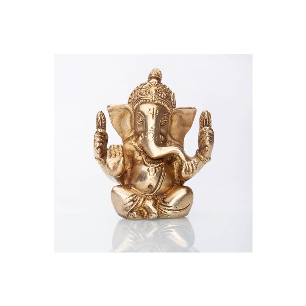 gan12 meditation ganesha statue messing