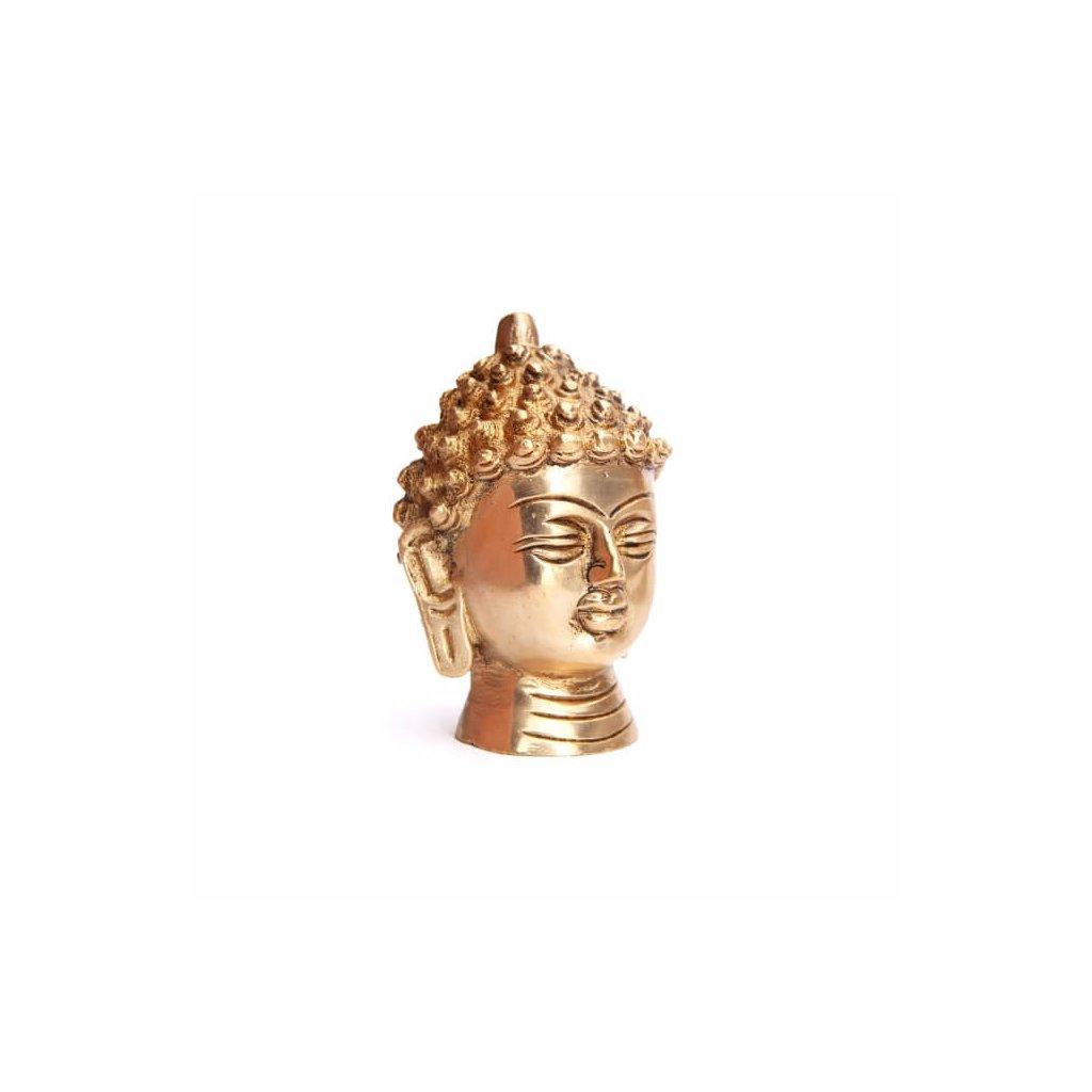 budk8 meditation buddah kopf statue messing schraeg