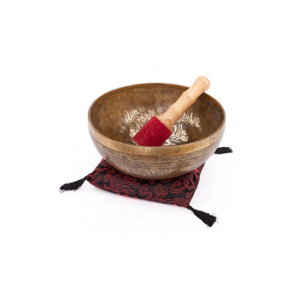 ks23hd meditation handgefertigte klangschale 23 cm mit dekor blume des lebens
