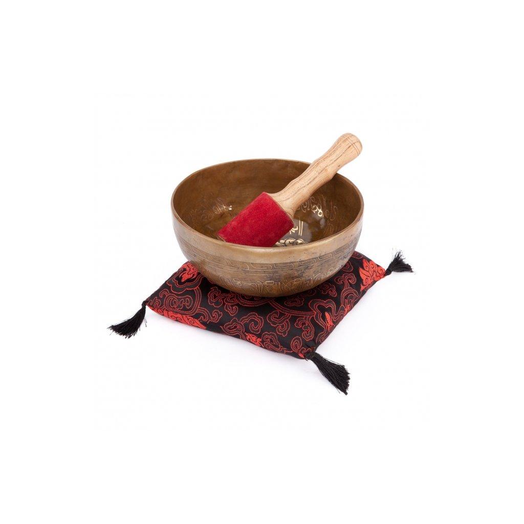 ks19hd meditation handgefertigte klangschale 19 cm mit dekor tara