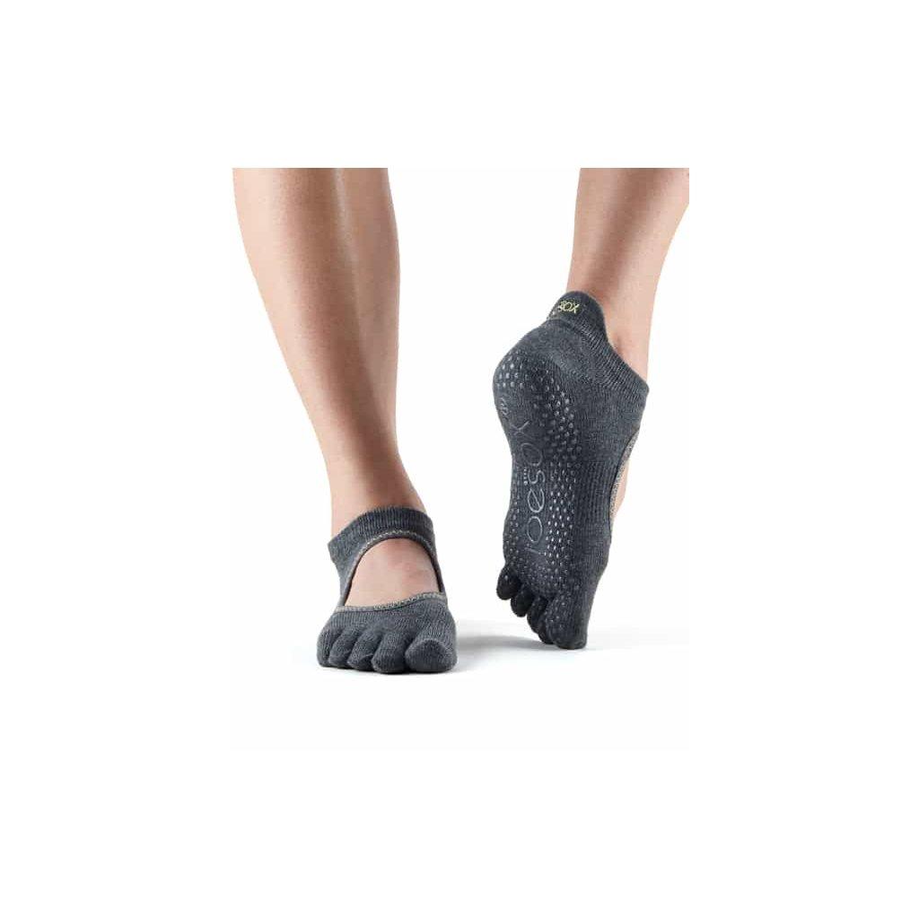 Socks Grip Bellarina FT Charcoal w.Lime