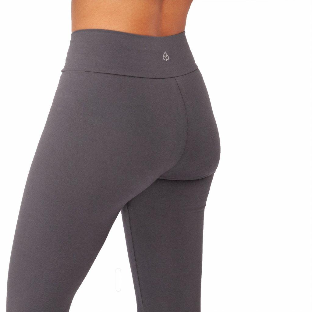 ea0aa yoga kleidung yamadhi basic leggins cross waist anthrazit backside
