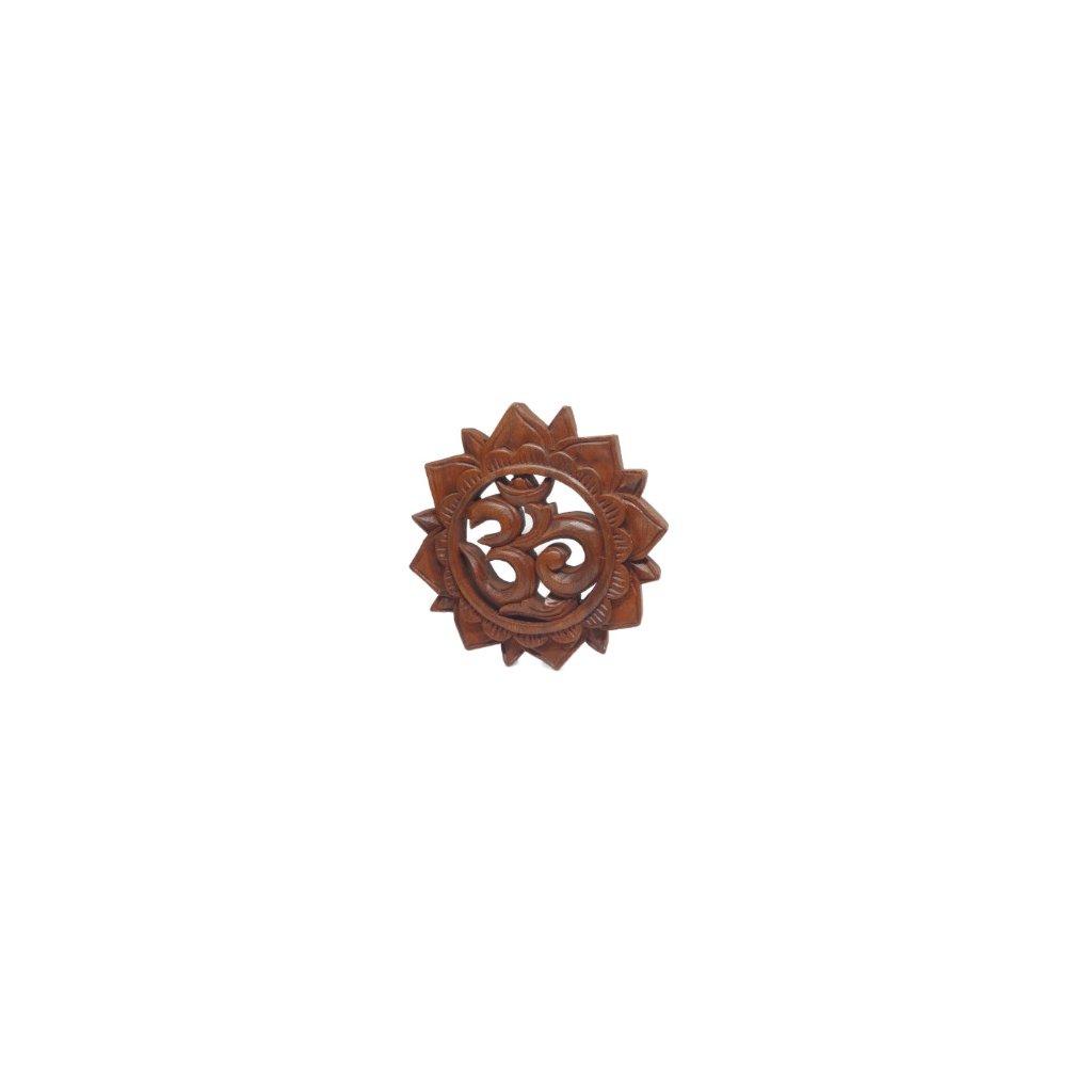 Flexity drevená dekorácia so symbolom Om