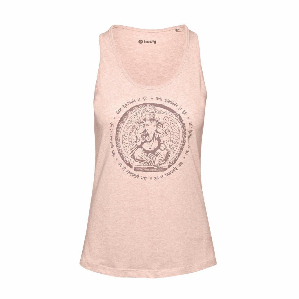WTROGx YogaKleidung bodhi TankTopGaneshaMantra rosa vorne 2