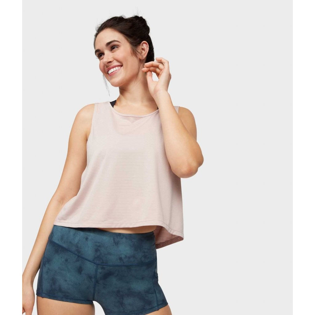 Manduka Breeze Crop Top tielko telovo-béžové