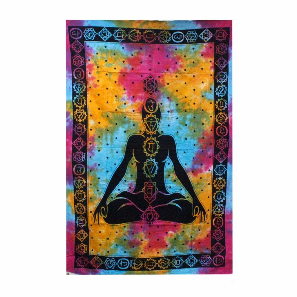 Nástenná plachta/Prikrývka Chakra Buddha 130 x 200 cm