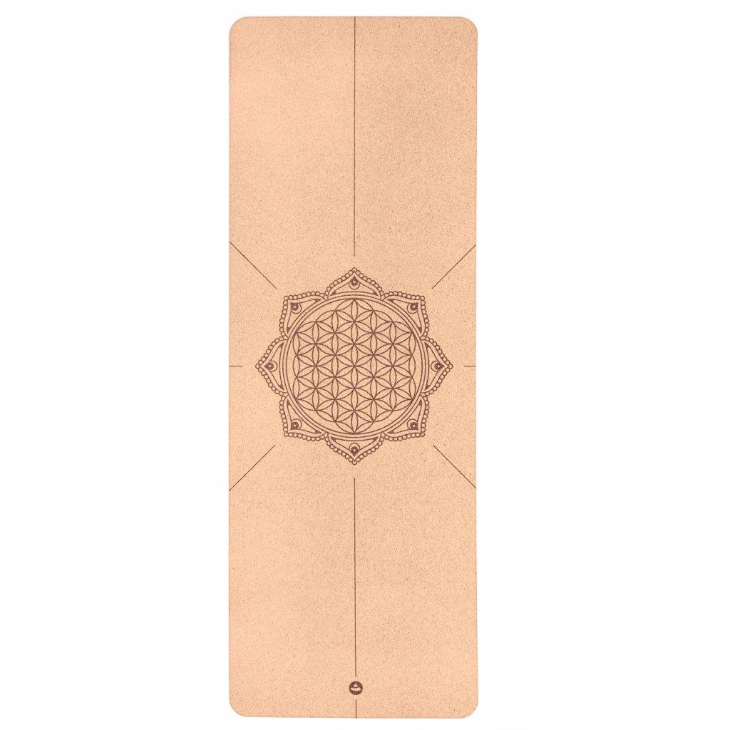 632bdl yoga meditation pilates yogamatte kork blume des lebens above (1)