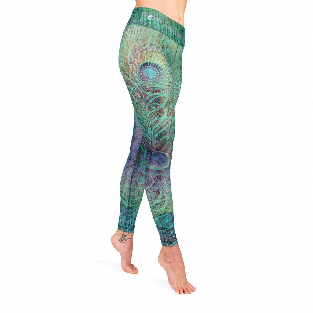 Bodhi Niyama Feathered Beauty legíny na jogu a fitness
