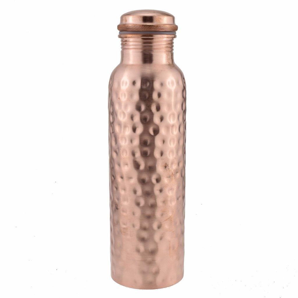 Copper Bottle Hammered 1