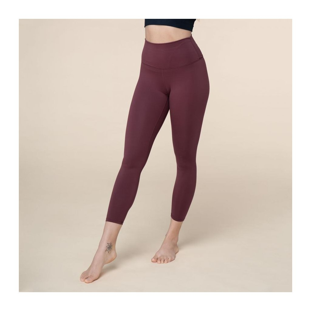 nl012axs leggings niyama essentials wmn high waist leggings dunkelrot front body