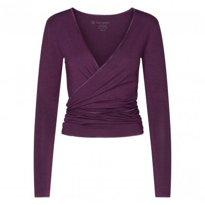 HA0FBXS yoga kleidung yamadhi wickeljacke modal deep purple front