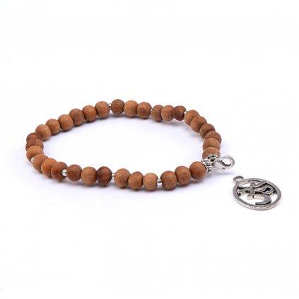 bodhi mala dreveny naramok symbol om
