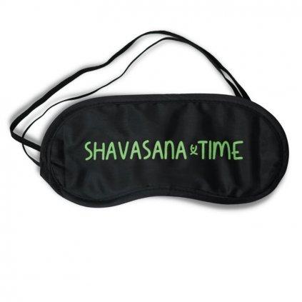 Flexity maska na spanie Shavasana Time čierna univerzálna