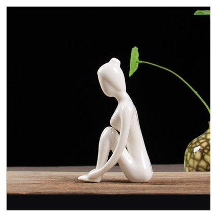 ERMAKOVA 12 Styles Abstract Art Ceramic Yoga Poses Figurine Porcelain Lady Figure Statue Home Yoga Studio.jpg 640x640