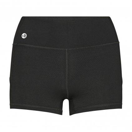 ns0100s shorty niyama essentials wmn gym shortie schwarz front
