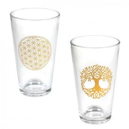 Sklenený pohár na pitie 2 druhy 480 ml