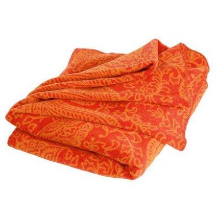 pkdo praxisbedarf paisley kuscheldecke 150 x 200 orange