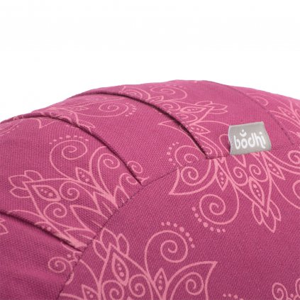 983ml meditation maharaja collection gemsutertes meditationskissen zafu lotus berry close up