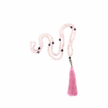 489rqa yoga mala rosenquarz amthyst pinker quaste above