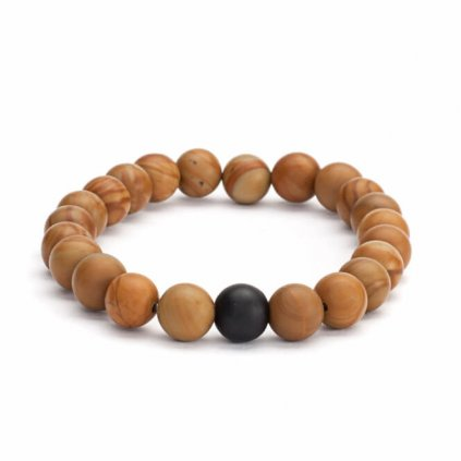401hsam yoga mala armband perlen holzcharakter schwarzer achat
