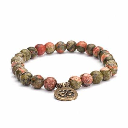 401eom yoga mala armband epidot mit om charm