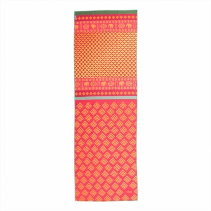907ass yoga yogatuch grip towel art collection safari sari rot gelb