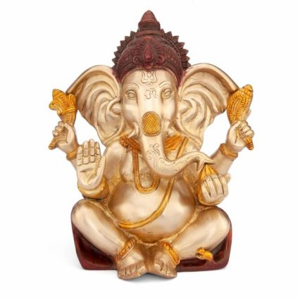 gan25g meditation ganesha statue frontal