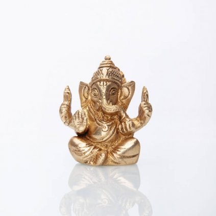 gan7 meditation ganesha statue messing
