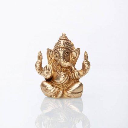 gan7 meditation ganesha statue messing