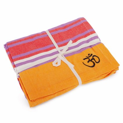 981m yoga yogadecke shavasana baumwolle mehrfarbig