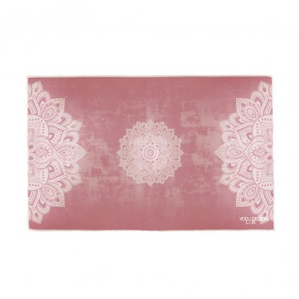 YDL Mandala Ginger HAND TOWEL Unfolded low res