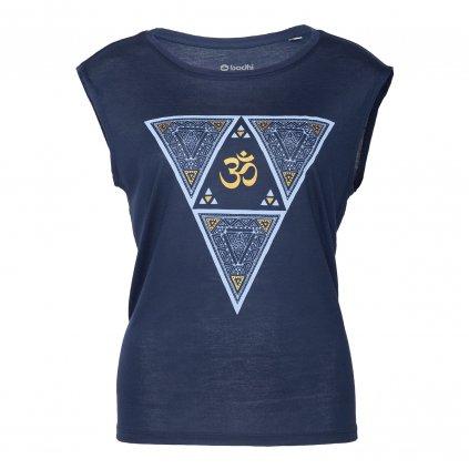 wtnet yoga kleidung bodhi yoga tank top ethno triangle navy mit gold