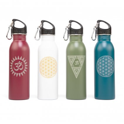 517x yoga lifestyle bodhi edelstahl trinkflasche sammelbild linie