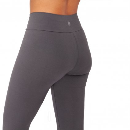 ea0aa yoga kleidung yamadhi basic leggins cross waist anthrazit backside