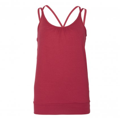ka0ha yamadhi yoga top spaghetti rumba red front