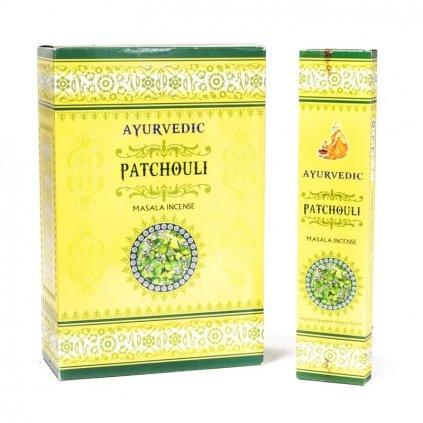 Flexity Ayurvedic Patchouli kadidlo masala vonné tyčinky 15 g