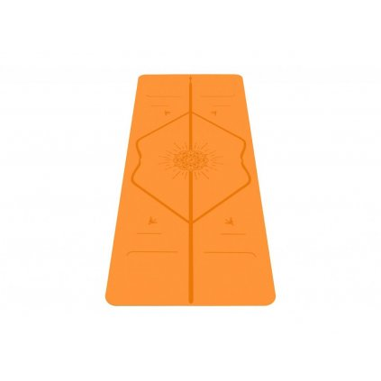 Liforme Happiness Travel Mat joga podložka 2 mm (žlto-oranžová)