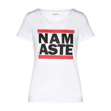 WTRMWx shirt bodhi damen t shirt run namaste white front