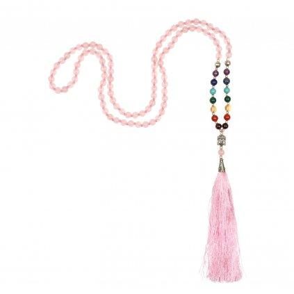 489crq yoga accessoires rosenquarz mala pinke quaste kette