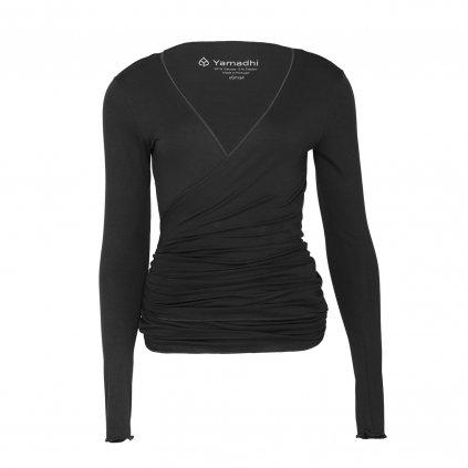 ha00a yamadhi wrap jacket viskose black front