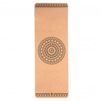 632cem yoga meditation pilates yogamatte kork ethno mandala above